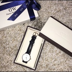 Daniel Wellington black and rose gold Petite